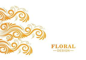 Decorative colorful floral background vector