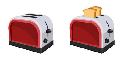 Bread toaster isolated on white background vector