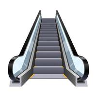 Stylish escalator isolated on white background