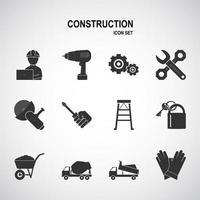 Construction tool icon set vector
