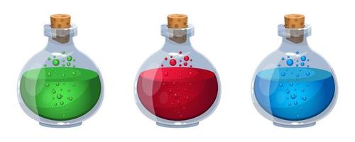Magical potion isolated on white background vector