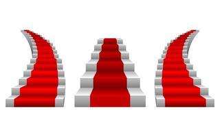 escaleras aisladas sobre fondo blanco vector