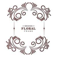 Beautiful decorative floral frame vector