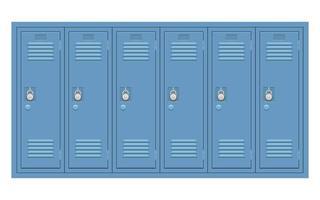 School locker isolated  vector