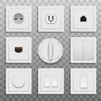 Switches and sockets  vector