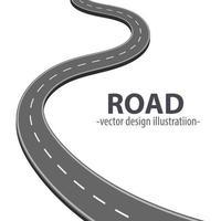 estrada do caminho isolada no fundo branco vetor