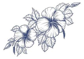 Hand drawing flower