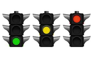 Traffic lights isolated on white background vector