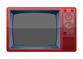 Vintage old television  vector