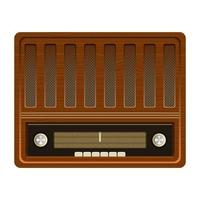 Old vintage radio  vector