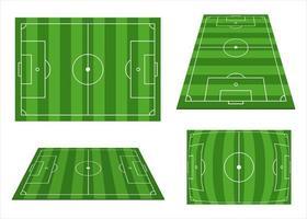 conjunto de campo de fútbol vector
