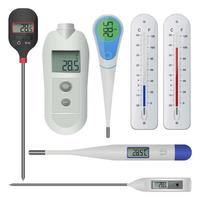 Electronic thermometer isolated on white background
