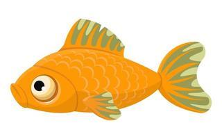 Funny cartoon fish  vector