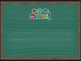 Back to school, chalkboard background vector