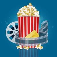 diseño de palomitas de maíz de películas vector