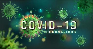 Coronavirus Covid 19 Green Cell Design vector