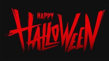 banner de texto rojo feliz halloween vector
