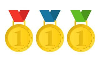 Winner medal isolated on white background vector