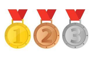 Winner medal isolated  vector