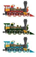 locomotora vintage aislado en blanco