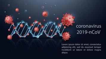 plantilla de banner científico de coronavirus vector