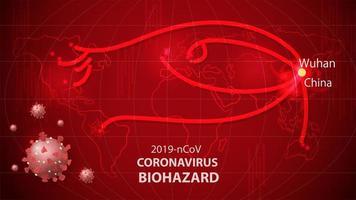 Coronavirus alert of spreading and world tracker banner vector