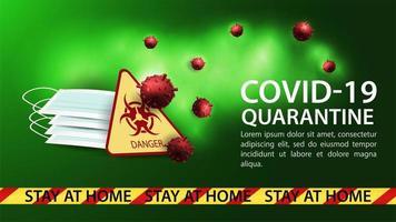 Plantilla de banner de peligro de coronavirus
