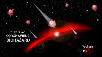 Coronavirus alert of spreading banner  vector