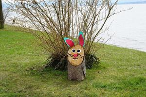Hare decoration at Lake Boden