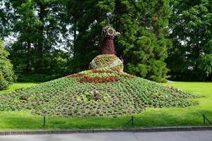 composición de flores en la isla de mainau