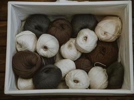 White box of yarn