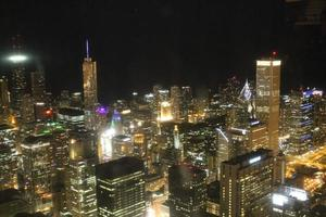 skyline di Chicago di notte