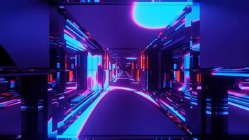 Fondo de ilustración 3d de reflexión radiante 4k uhd