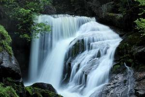 Waterfalls in forest photo