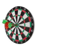 Darts on bullseye photo