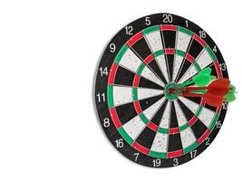 Isolated dart board with white background
