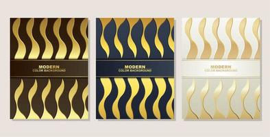 couvertures modernes de forme ondulée en or