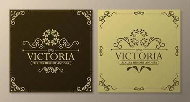 Luxury hotel label templates vector