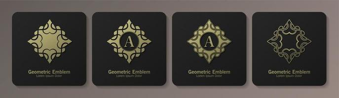 Set of ornamental emblems vector