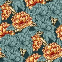 Seamless graphic flower pattern