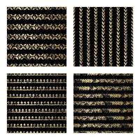 Black and Gold Distressed Arrow Seamless Pattern vector