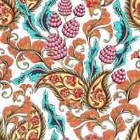 patrón floral colorido vintage