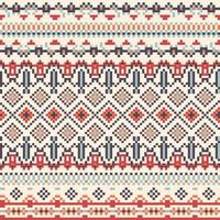 Geometry Tribal Pixel Pattern vector