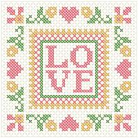 Frame Love Embroidery vector