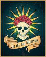 Colorful Day of the Dead poster vector