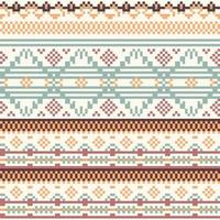 Geometry Tribal Native Pixel Pattern vector