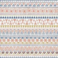 Ethnic Tribal Hand-drawn Seamless Pattern vector