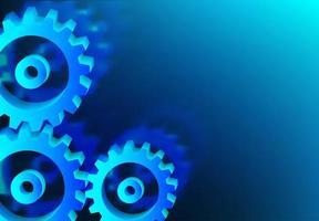 Mechanism system cogwheels in blue  vector