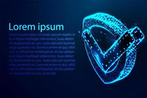 conceito de proteção de dados de escudo isométrico