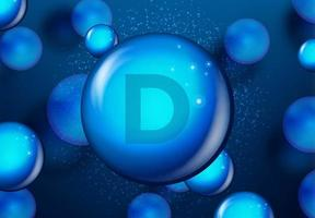 Vitamin D blue shining molecule design vector